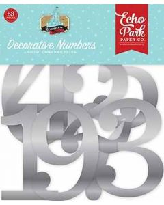 Silver Foil Decorative Numbers - Remember the Magic - Echo Park*
