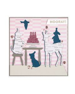 Spellbinders Birthday Animals Card