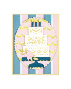 Spellbinders Celebrate with Cake Card