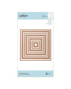 Squares Etched Dies - Modern Essentials - Nestabilities - Spellbinders*