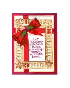 Becca Feeken Charming Christmas words dies