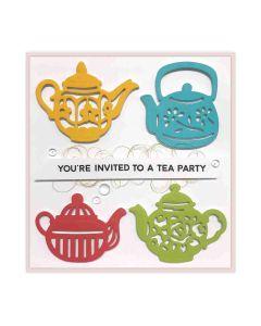 Sharyn Sowell Tea Pots Spellbinders Dies