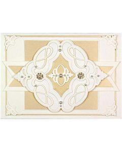 Marquise Diamond Pendant Etched Dies - Shapeabilities - Vintage Treasures - Becca Feeken - Spellbinders