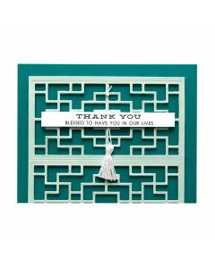 Chinese Traditional Fence Etched Dies - Destination China - Shapeabilities - Lene Lok - Spellbinders