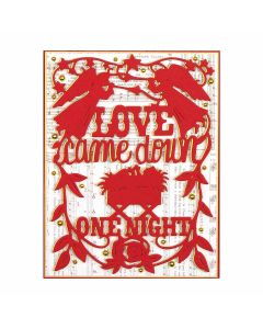 Love Came Down Etched Die - Shapeabilities - 2019 Holiday - Sharyn Sowell - Spellbinders