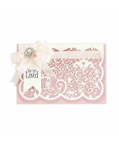 Candlewick Lace Card Front Etched Dies - Candlewick Sampler - Becca Feeken - Spellbinders