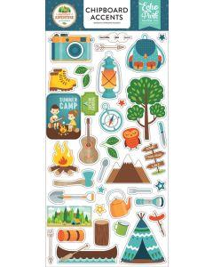 """Summer Adventure 6"""" x 13"""" Chipboard Accent Stickers - Lori Whitlock - Echo Park"""