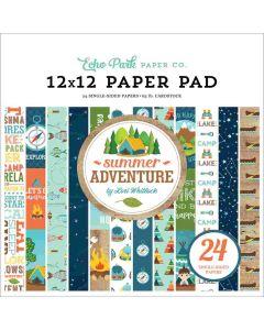 "Summer Adventure 12"" x 12"" Paper Pad - Lori Whitlock - Echo Park"