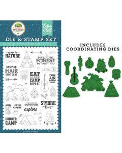 Escape to Nature Die & Stamp Set - Summer Adventure - Lori Whitlock - Echo Park