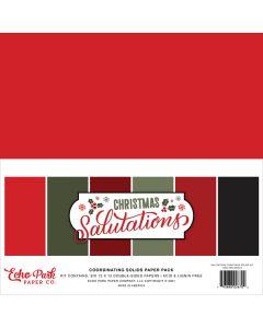 Salutations Christmas Solids Kit - Echo Park