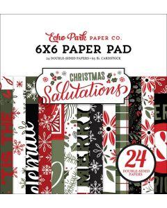 "Salutations Christmas 6"" x 6"" Paper Pad - Echo Park"