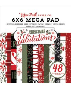 "Salutations Christmas Cardmakers 6"" x 6"" Mega Pad - Echo Park"