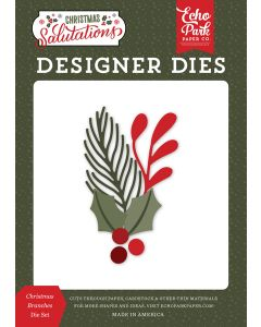 Christmas Branches Dies - Salutations Christmas - Echo Park