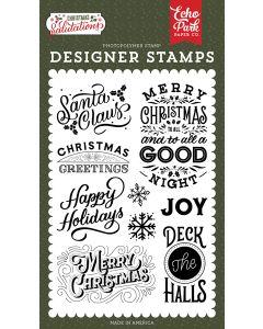 Santa Claus Stamps - Salutations Christmas - Echo Park