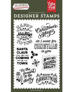 Making Spirits Bright Stamps - Salutations Christmas - Echo Park