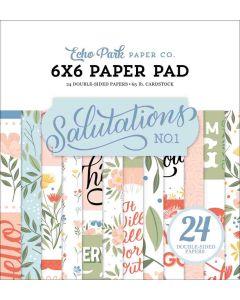 """Salutations No.1 6"""" x 6"""" Paper Pad - Echo Park*"""
