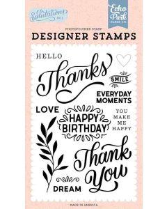 Thanks Stamps - Salutations No. 1 - Echo Park*
