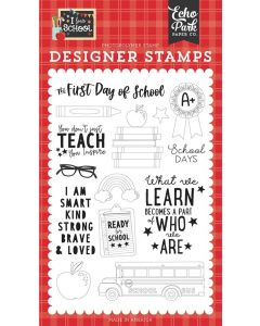 First Day of School Stamps - I Love School - Echo Park