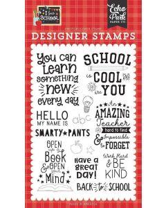 School is Cool Stamps - I Love School - Echo Park