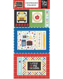 I Love School Chipboard Frames - Echo Park