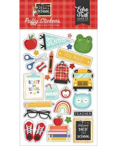 I Love School Puffy Stickers - Echo Park
