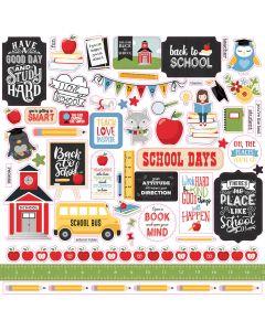 School Rules Element Stickers - Echo Park