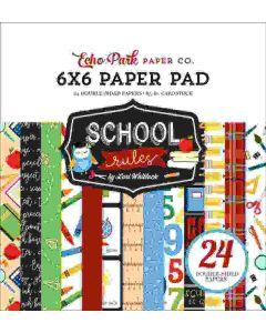 "School Rules 6"" x 6"" Paper Pad - Echo Park*"