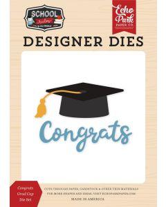 Congrats Grad Cap Die Set - School Rules - Echo Park*