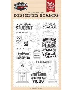Super Student Stamp Set - School Rules - Echo Park*