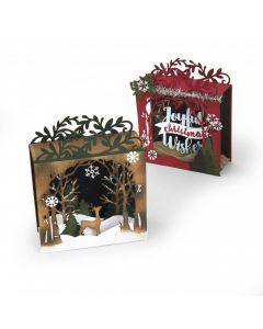 Sizzix Christmas Shadowbox card dies