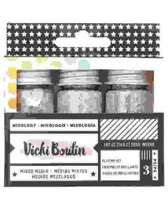 GLITTER - AC - VB - ALL THE GOOD THINGS - MIXOLOGY - SILVER - (3 PIECES)