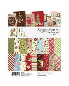 """Holly Jolly 6"""" x 8"""" Paper Pad - Simple Stories"""