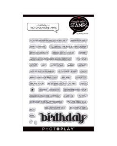 Birthday Stamps - Say It With Stamps - Becky Moore - PhotoPlay*
