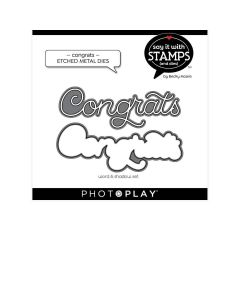 Congrats Dies - Say It With Stamps - Becky Moore - PhotoPlay*