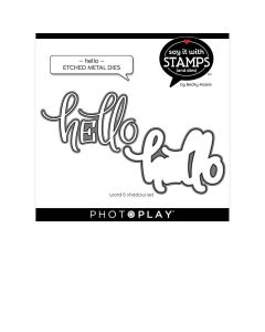 Hello Dies - Say It With Stamps - Becky Moore - PhotoPlay*