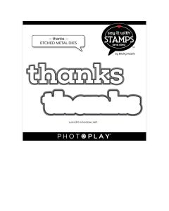 Thanks Dies - Say It With Stamps - Becky Moore - PhotoPlay*