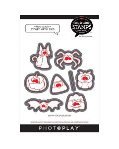 Boo To You Halloween Icon Dies - Say It With Stamps - PhotoPlay