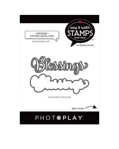 Blessings Word Dies - Say It With Stamps - PhotoPlay