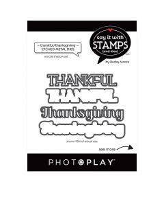 Thankful/Thanksgiving Words Dies - Say It With Stamps - PhotoPlay
