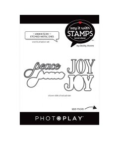 Peace/Joy Word Dies - Say It With Stamps - PhotoPlay