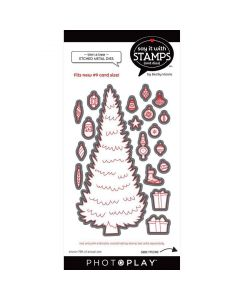 #9 Trim A Tree Dies - Say It With Stamps - PhotoPlay