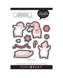Penguins At Play Dies - Say It With Stamps - PhotoPlay