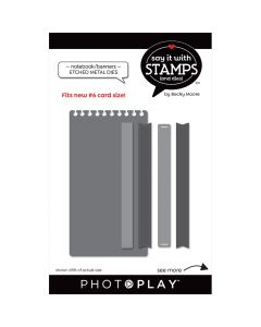 #6 Notebook/Banner Dies - Say It With Stamps - PhotoPlay