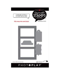 #6 Rectangle Window Dies - Say It With Stamps - PhotoPlay