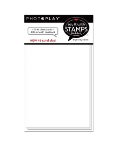 #6 Blank White Scored Cards - Say It With Stamps - PhotoPlay