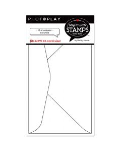 #6 White Envelopes - Say It With Stamps - PhotoPlay