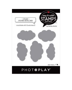 Cloud Dies Stencil - Say It With Stamps - PhotoPlay