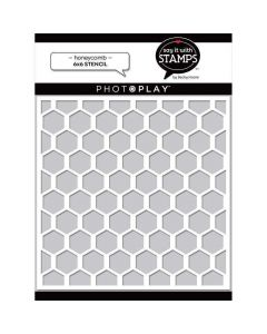 Honeycomb Stencil - Say It With Stamps - PhotoPlay
