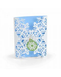 Snowflake Card Wrap Card Thinlits Die Set - Jordan Caderao - Sizzix