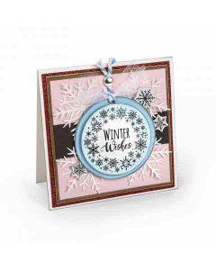 Jen Long Snowflake Wreath Stamp & Die Set Project